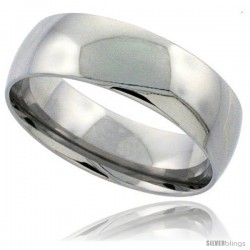 Stainless Steel 8mm Comfort-Fit Domed Band