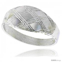 Sterling Silver Freeform Dome Ring Polished finish 5/16 in wide