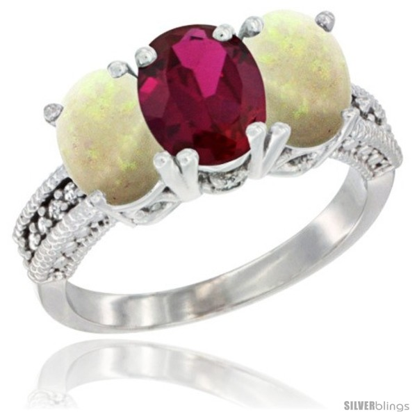 https://www.silverblings.com/24377-thickbox_default/10k-white-gold-natural-ruby-opal-ring-3-stone-oval-7x5-mm-diamond-accent.jpg
