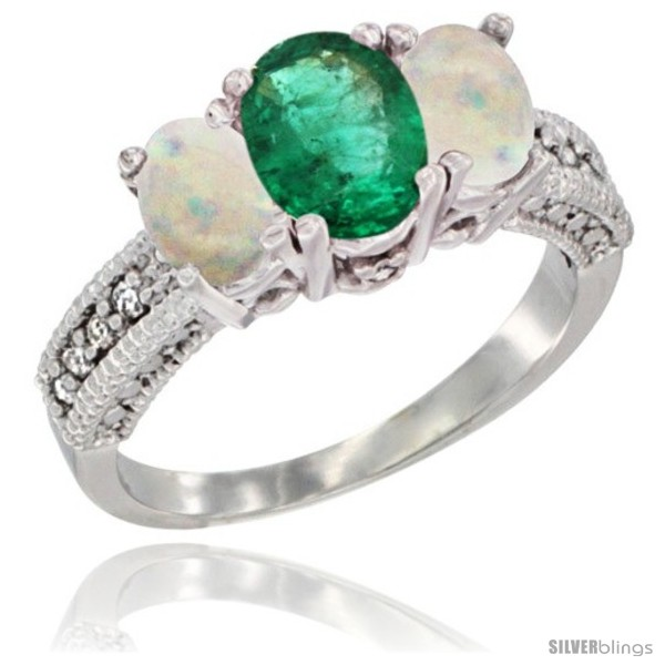https://www.silverblings.com/24385-thickbox_default/10k-white-gold-ladies-oval-natural-emerald-3-stone-ring-opal-sides-diamond-accent.jpg