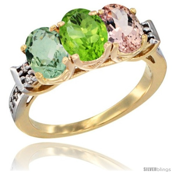 https://www.silverblings.com/246-thickbox_default/10k-yellow-gold-natural-green-amethyst-peridot-morganite-ring-3-stone-oval-7x5-mm-diamond-accent.jpg