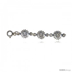 Sterling Silver Sun Charm Bracelet -Style 6cb519