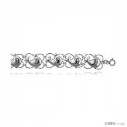 Sterling Silver Dolphin Charm Bracelet -Style 6cb535