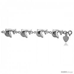 Sterling Silver Dolphin Charm Bracelet -Style 6cb536