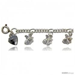 Sterling Silver Goldfish Charm Bracelet