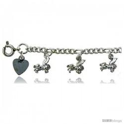 Sterling Silver Pegasus Charm Bracelet