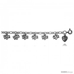 Sterling Silver Unicorn Charm Anklet