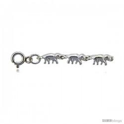 Sterling Silver Elephants Charm Bracelet -Style 6cb551