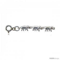Sterling Silver Elephants Charm Anklet -Style 6cb551a