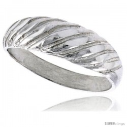 Sterling Silver Freeform Ring Polished finish 3/16 in wide -Style Ffr573