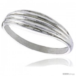 Sterling Silver Freeform Ring Polished finish 1/4 in wide -Style Ffr574