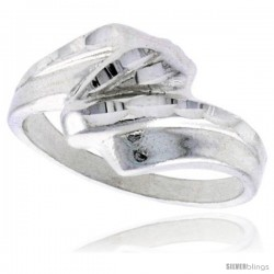 Sterling Silver Freeform Ring Polished finish 3/8 in wide -Style Ffr579