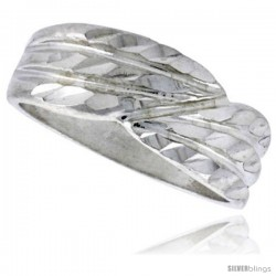 Sterling Silver Freeform Ring Polished finish 1/4 in wide -Style Ffr580