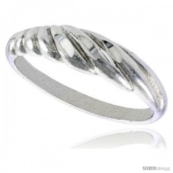 Sterling Silver Freeform Ring Polished finish 3/16 in wide -Style Ffr582