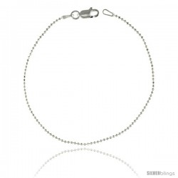 Sterling Silver Italian Faceted fine Pallini Bead Ball Chain Necklaces & Bracelets 1.2mm Nickel Free.