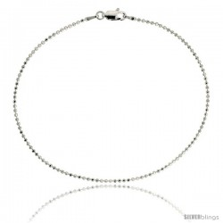 Sterling Silver Italian Faceted Pallini Bead Ball Chain Necklaces & Bracelets 1.5mm Nickel Free