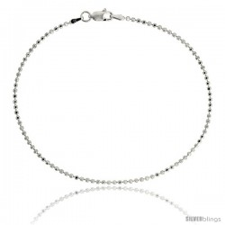 Sterling Silver Italian Faceted Pallini Bead Ball Chain Necklaces & Bracelets 1.8mm Nickel Free