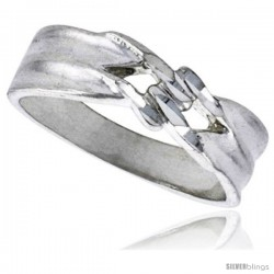 Sterling Silver Freeform Ring Polished finish 3/16 in wide -Style Ffr583