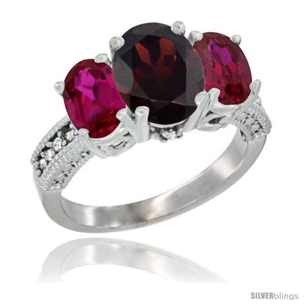 https://www.silverblings.com/2525-thickbox_default/10k-white-gold-ladies-natural-garnet-oval-3-stone-ring-ruby-sides-diamond-accent.jpg