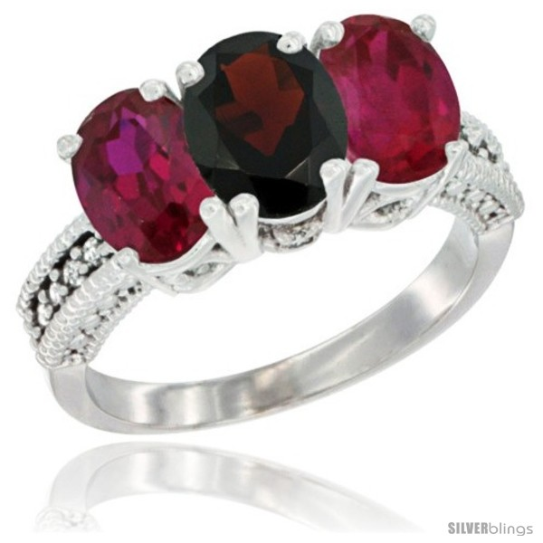 https://www.silverblings.com/2528-thickbox_default/10k-white-gold-natural-garnet-ruby-sides-ring-3-stone-oval-7x5-mm-diamond-accent.jpg
