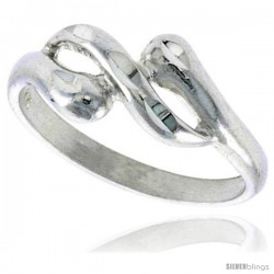 Sterling Silver Freeform Ring Polished finish 1/4 in wide -Style Ffr585