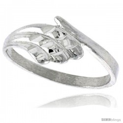 Sterling Silver Freeform Ring Polished finish 5/16 in wide -Style Ffr587