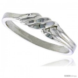 Sterling Silver Freeform Ring Polished finish 3/16 in wide -Style Ffr588