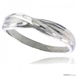 Sterling Silver Freeform Ring Polished finish 3/16 in wide -Style Ffr590