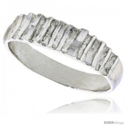 Sterling Silver Freeform Ring Polished finish 3/16 in wide -Style Ffr592