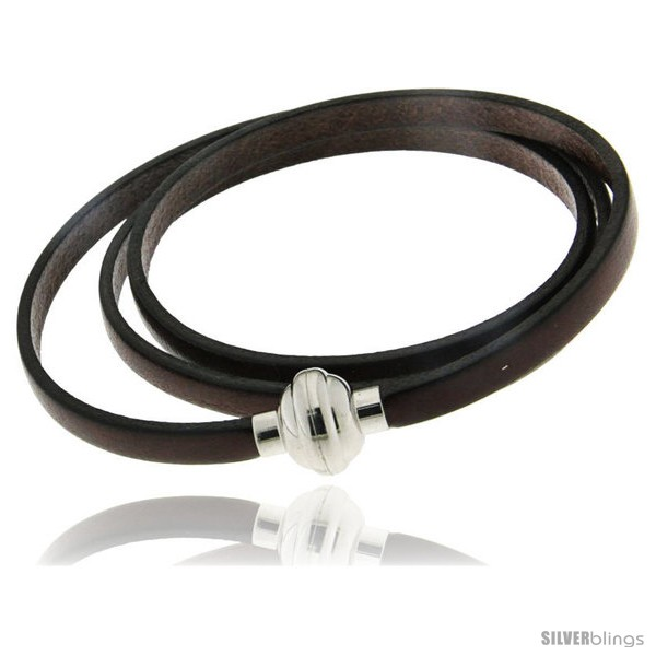https://www.silverblings.com/254-thickbox_default/surgical-steel-italian-leather-wrap-massai-bracelet-w-super-magnet-clasp-color-brown.jpg