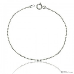 Sterling Silver Italian fine Pallini Bead Ball Chain Necklaces & Bracelets 1.2mm Nickel Free