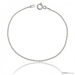 Sterling Silver Italian fine Pallini Bead Ball Chain Necklaces & Bracelets 1.2mm Nickel Free