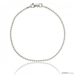 Sterling Silver Italian Pallini Bead Ball Chain Necklaces & Bracelets 1.5mm Nickel Free