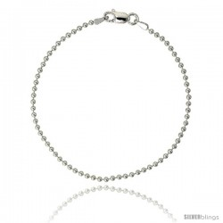 Sterling Silver Italian Pallini Bead Ball Chain Necklaces & Bracelets 2.3mm Nickel Free