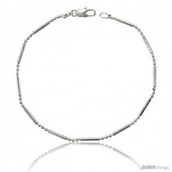 Sterling Silver Italian Pallini Bead Bar Ball Chain Necklaces & Bracelets 1.5mm Nickel Free