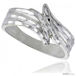 Sterling Silver Freeform Ring Polished finish 3/8 in wide -Style Ffr595