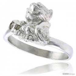 Sterling Silver Monkey Ring Polished finish 1/2 in wide