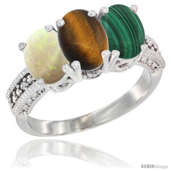 https://www.silverblings.com/25675-thickbox_default/10k-white-gold-natural-opal-tiger-eye-malachite-ring-3-stone-oval-7x5-mm-diamond-accent.jpg