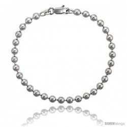 Sterling Silver Italian Pallini Bead Ball Chain Necklaces & Bracelets 5mm Nickel Free