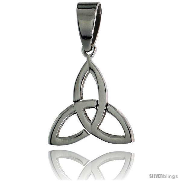 Stainless steel celtic triquetra holy trinity pendant 58 in tall undefined aloadofball Gallery