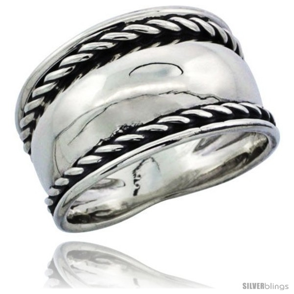 https://www.silverblings.com/25855-thickbox_default/sterling-silver-domed-cigar-wedding-band-ring-w-rope-edge-design-7-16-in-wide.jpg