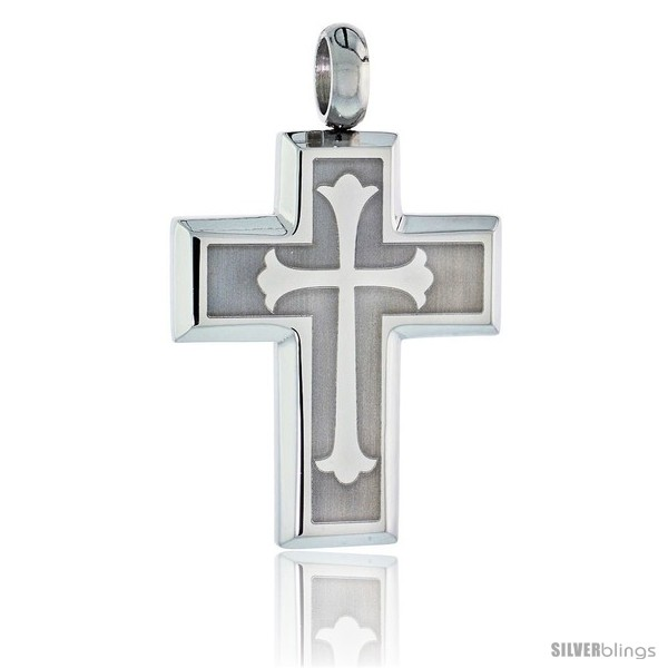 https://www.silverblings.com/2603-thickbox_default/stainless-steel-cross-floury-pendant-30-in-chain.jpg