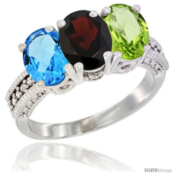 https://www.silverblings.com/26042-thickbox_default/14k-white-gold-natural-swiss-blue-topaz-garnet-peridot-ring-3-stone-7x5-mm-oval-diamond-accent.jpg