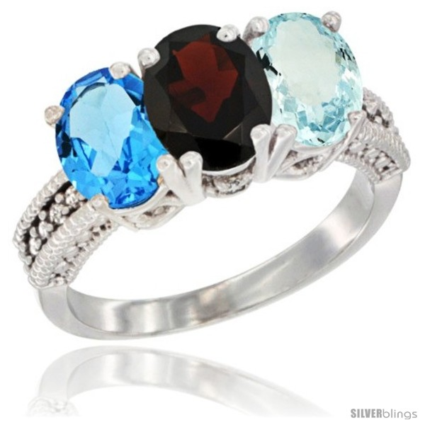 https://www.silverblings.com/26044-thickbox_default/14k-white-gold-natural-swiss-blue-topaz-garnet-aquamarine-ring-3-stone-7x5-mm-oval-diamond-accent.jpg