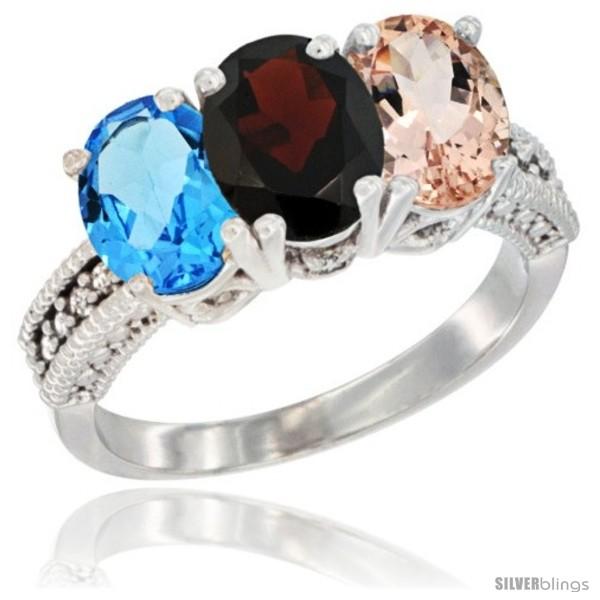 https://www.silverblings.com/26046-thickbox_default/14k-white-gold-natural-swiss-blue-topaz-garnet-morganite-ring-3-stone-7x5-mm-oval-diamond-accent.jpg