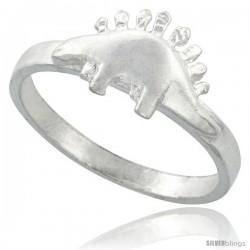 Sterling Silver Stegosaurus Dinosaur Ring 5/16 in wide
