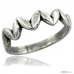 Sterling Silver Thin wheat Ring 3/16 in wide