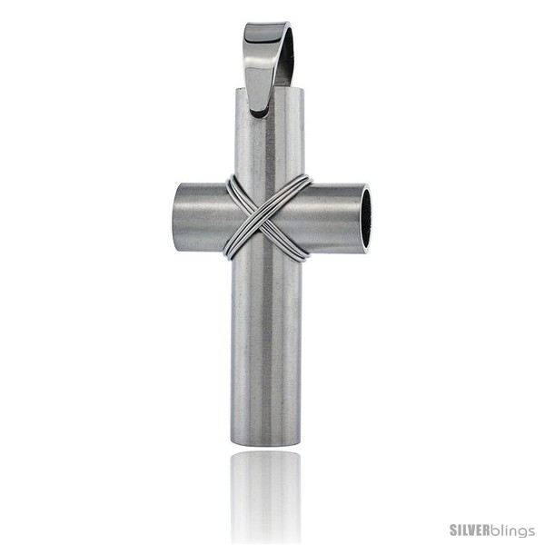 https://www.silverblings.com/2645-thickbox_default/stainless-steel-large-wire-wrapped-tube-cross-pendant-2-in-tall-30-in-chain.jpg