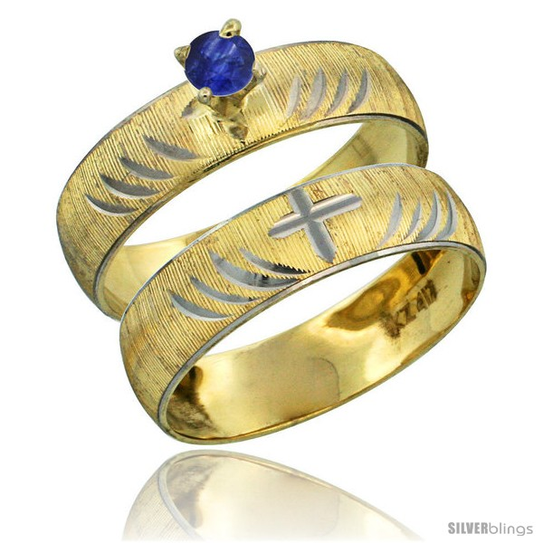 https://www.silverblings.com/26466-thickbox_default/10k-gold-ladies-2-piece-0-25-carat-deep-blue-sapphire-engagement-ring-set-diamond-cut-pattern-rhodium-accent-style-10y503e2.jpg