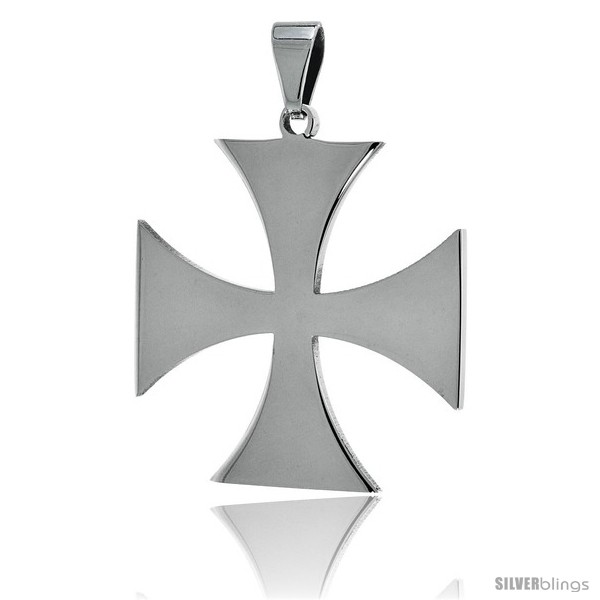 https://www.silverblings.com/2647-thickbox_default/stainless-steel-maltese-cross-pendant-1-1-2-in-tall-30-in-chain.jpg